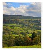 Wensleydale Near Westholme Bank In The Yorkshire Dales Fleece Blanket