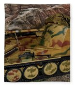 Wespe 105 Mm Self-propelled Gun Fleece Blanket
