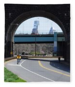 West River Drive Philadelphia Fleece Blanket