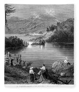 West: Settlement, C1838 Fleece Blanket