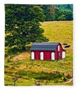 West Virginia 2 Paint Fleece Blanket