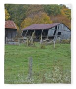 West Virginia Barn 3211 Fleece Blanket