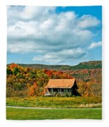 West Virginia Homestead Fleece Blanket