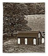 West Virginia Sepia Fleece Blanket