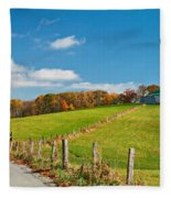 West Virginia Wandering 3 Fleece Blanket