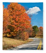 West Virginia Wandering 4 Fleece Blanket