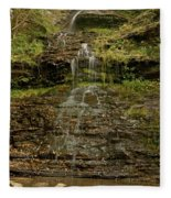 West Virginia Waterfall Fleece Blanket