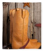 Western Boots And Spurs Fleece Blanket