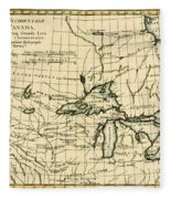 Western Canada And The Five Great Lakes Fleece Blanket