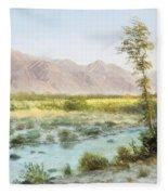 Western Landscape Fleece Blanket