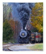 Western Maryland Steam Train Fleece Blanket