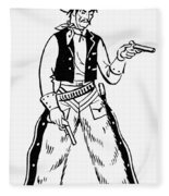 Western Outlaw Fleece Blanket