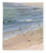 Western Sandpiper Fleece Blanket