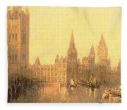Westminster Houses Of Parliament Fleece Blanket