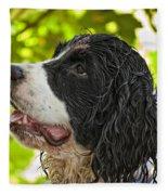 Wet Puppy 2 Fleece Blanket