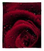 Wet Rose Fleece Blanket