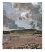Weymouth Bay With Jordan Hill Fleece Blanket