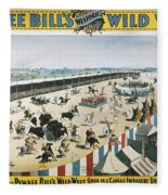 W.f.cody Poster, 1894 Fleece Blanket