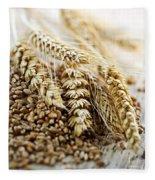 Wheat Ears And Grain Fleece Blanket