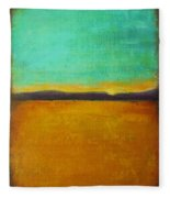 Wheat Field At Sunset Fleece Blanket
