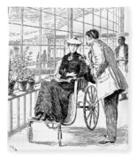 Wheelchair, 1886 Fleece Blanket