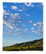 When Clouds Meet Mountains 2 Fleece Blanket