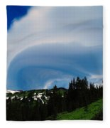 Whirling Clouds  Fleece Blanket