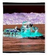 Whirlpool Jet Boat Niagara Falls Inverted Fleece Blanket