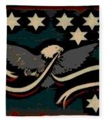 Whiskey Rebellion Flag Fleece Blanket