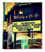 Whisky A Go Go Bar On Sunset Boulevard Fleece Blanket