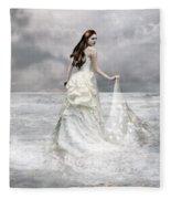 Whispered Waves Fleece Blanket