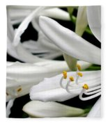 White Agapantha Fleece Blanket