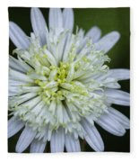 White Aster Fleece Blanket