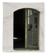 White Brick And Broken Window Fleece Blanket