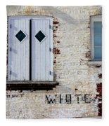 White Brick Fleece Blanket