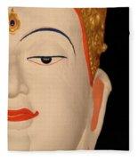 White Buddha Face Fleece Blanket