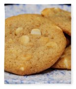 White Chocolate Chip Cookies Fleece Blanket