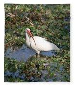 White Crane Fleece Blanket