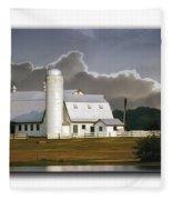 White Farm Fleece Blanket