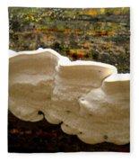 White Fungus Fleece Blanket