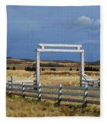 White Gateway Fleece Blanket