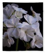 White Geranium Fleece Blanket