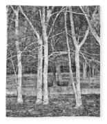 White Grove Fleece Blanket