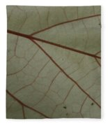 White Hau Leaf With Red Veins Fleece Blanket
