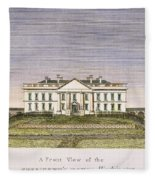 White House, D.c., 1820 Fleece Blanket