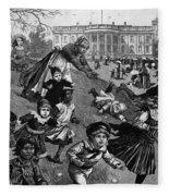 White House: Easter, 1887 Fleece Blanket