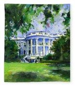 White House Fleece Blanket