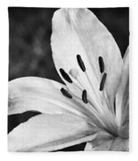 White Lilly  Fleece Blanket