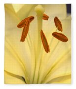 White Lily Fleece Blanket