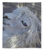 White Llama Fleece Blanket